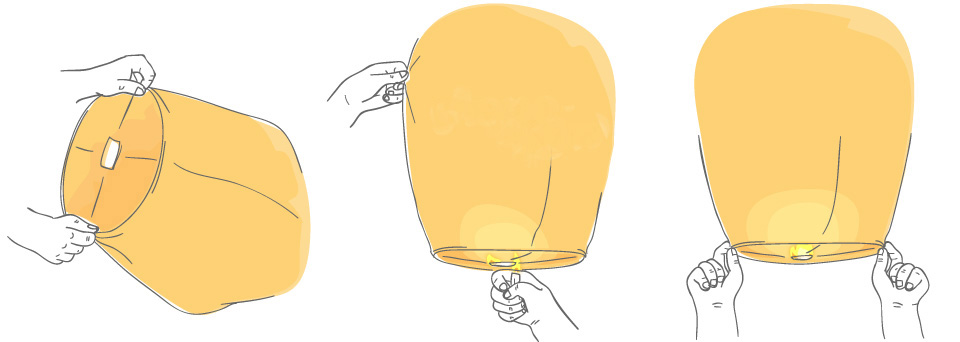 Как запускать небесный фонарик