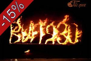 Скидка на огненные буквы