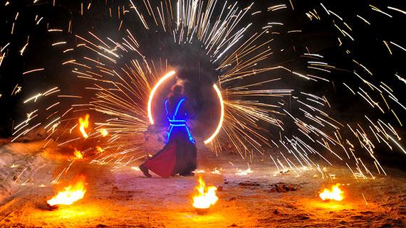 Заказать огненное шоу в Киеве фото 2