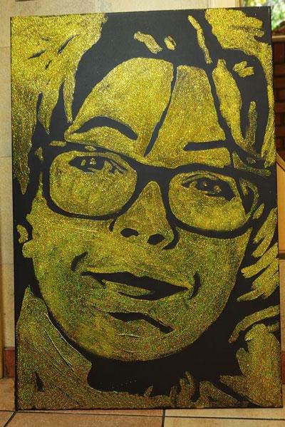 Необычный портрет золотом фото 1