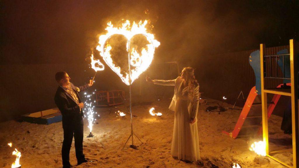 Огненное сердце на свадьбу в мангал Хаус фото 1